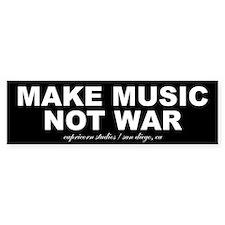 MAKE MUSIC NOT WAR Bumper Bumper Bumper Sticker