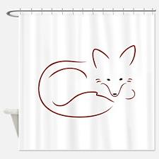 Vulpes Vulpes Shower Curtain