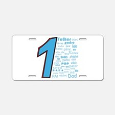 #1 Father / Aluminum License Plate
