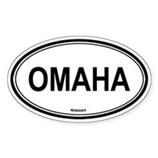 Omaha (Nebraska) Oval Decal