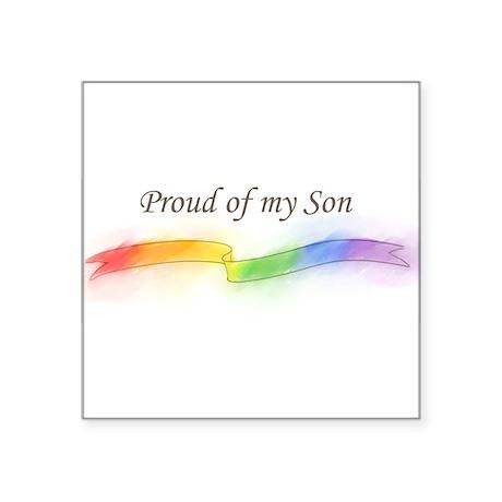"proud_of_my_son.jpg Square Sticker 3"" x 3"""