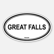 Great Falls (Montana) Oval Decal