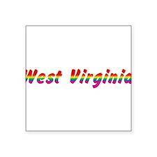 "w-virginia-rbw-txt.png Square Sticker 3"" x 3"""