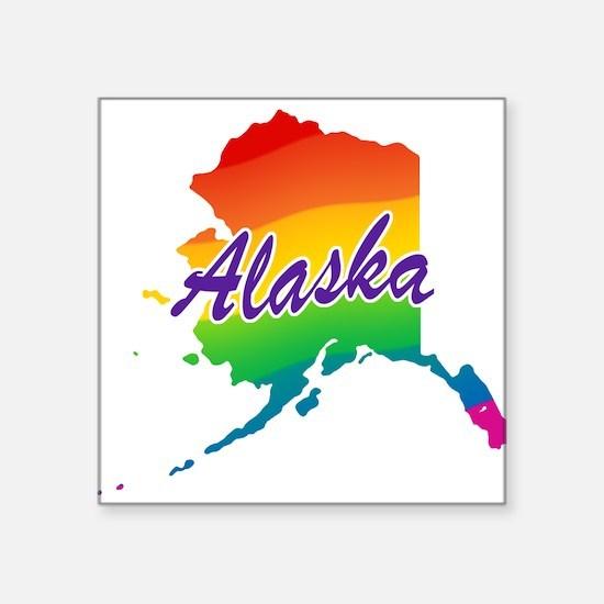 "rb_alaska.png Square Sticker 3"" x 3"""