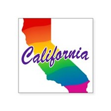 "rb_california.png Square Sticker 3"" x 3"""