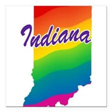 """rb_indiana.png Square Car Magnet 3"""" x 3"""""""