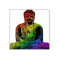 "tr_buddha-rainbow.png Square Sticker 3"" x 3"""