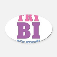 try-bi_tr.png Oval Car Magnet