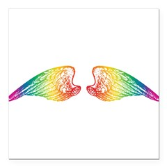 wings_rw.png Square Car Magnet 3