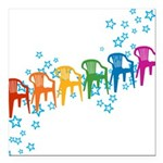 plasticchairrow_rw.png Square Car Magnet 3