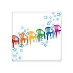 plasticchairrow_rw.png Square Sticker 3