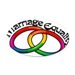 marriage-equality_tr.png Oval Car Magnet
