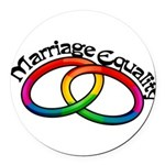 marriage-equality_tr.png Round Car Magnet