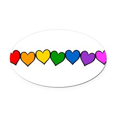 row-rw-heart.png Oval Car Magnet