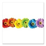 pop-daisy-rainbow.png Square Car Magnet 3