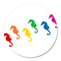 seahorses-rw_tr.png Round Car Magnet