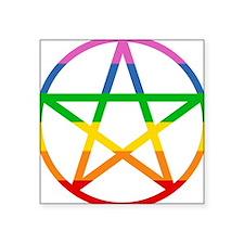 "pentale-rainbow.png Square Sticker 3"" x 3"""