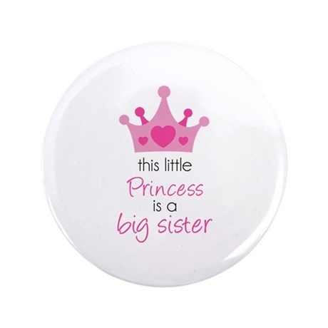 "This little princess 3.5"" Button (100 pack)"
