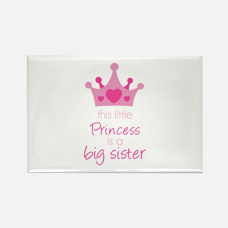 This little princess Rectangle Magnet