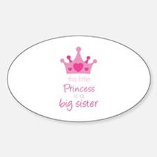 This little princess Sticker (Oval)