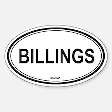 Billings (Montana) Oval Decal