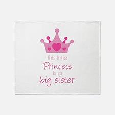 This little princess Throw Blanket