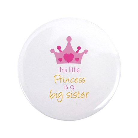 "This little princess 3.5"" Button"