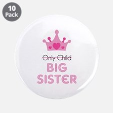 "Big sister 3.5"" Button (10 pack)"