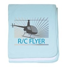Radio Control Flyer Helicopter baby blanket