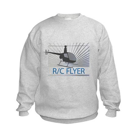 Radio Control Flyer Helicopter Kids Sweatshirt