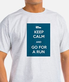 Keep Calm and Go For a Run T-Shirt