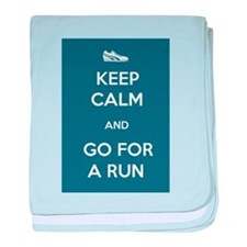 Keep Calm and Go For a Run baby blanket