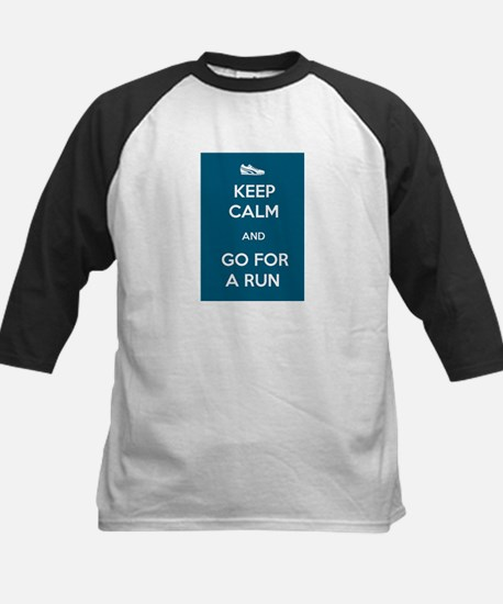 Keep Calm and Go For a Run Kids Baseball Jersey