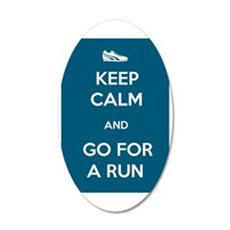 Keep Calm and Go For a Run 38.5 x 24.5 Oval Wall P