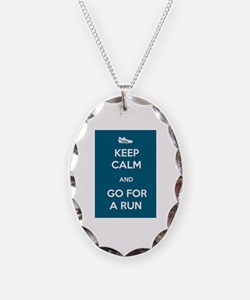 Keep Calm and Go For a Run Necklace