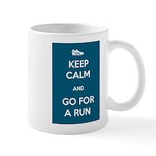 Keep Calm and Go For a Run Small Mug