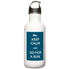 Keep Calm and Go For a Run Sports Water Bottle