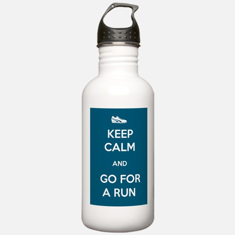 Keep Calm and Go For a Run Water Bottle