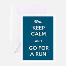 Keep Calm and Go For a Run Greeting Card