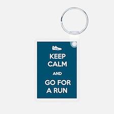 Keep Calm and Go For a Run Keychains