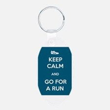 Keep Calm and Go For a Run Keychains
