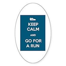 Keep Calm and Go For a Run Decal