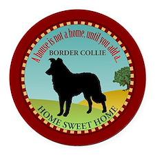 Border Collie Round Car Magnet