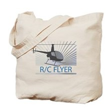 Radio Control Flyer Helicopter Tote Bag