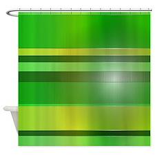 Plastic Stripes Shower Curtain