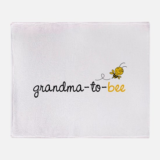 Grandma to bee Throw Blanket