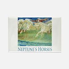 Neptune's Horses Rectangle Magnet