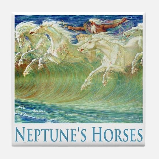 Neptune's Horses Tile Coaster