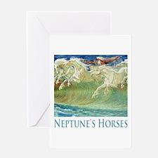 Neptune's Horses Greeting Card