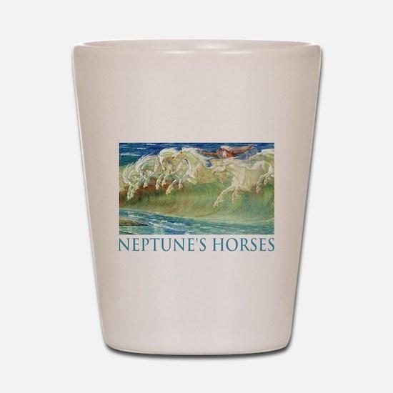 Neptune's Horses Shot Glass